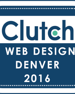 logo for Top Web Designers Denver 2016 from Clutch The Xcite Group