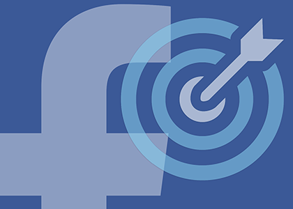 Social Retargeting -facebook logo with bullseye- The Xcite Group