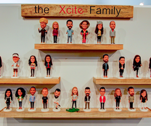 The Xcite Group Family Bobbleheads