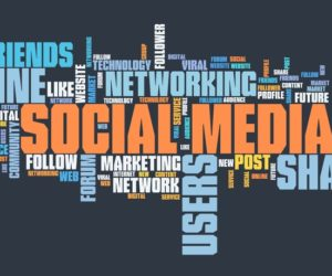 social media word collage