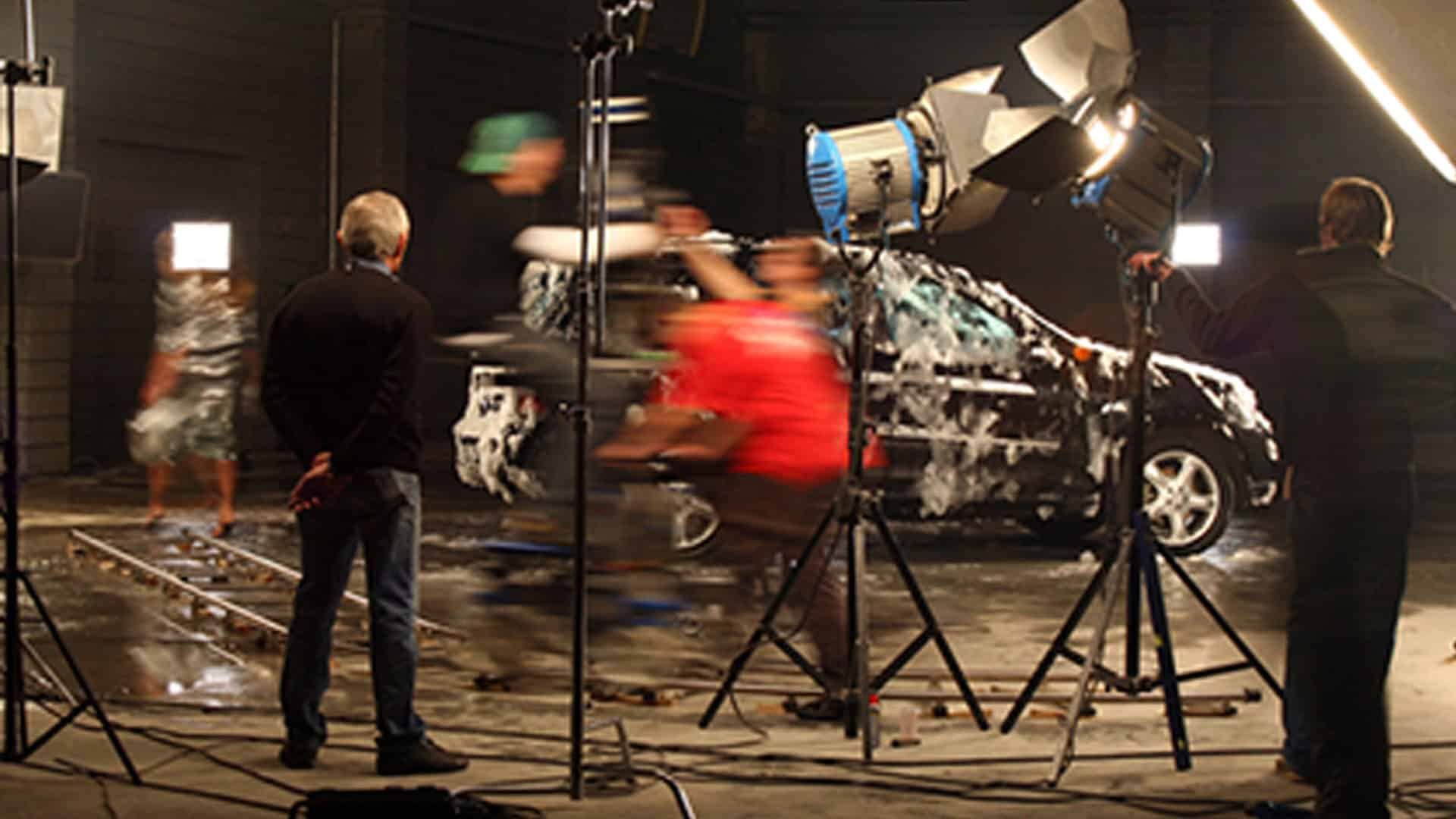 Client Ad BG behind the scenes of car commercial