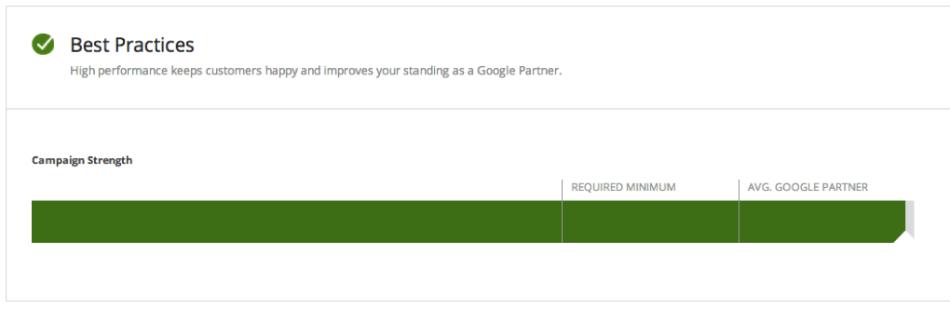 Google Partners Best Practices Score