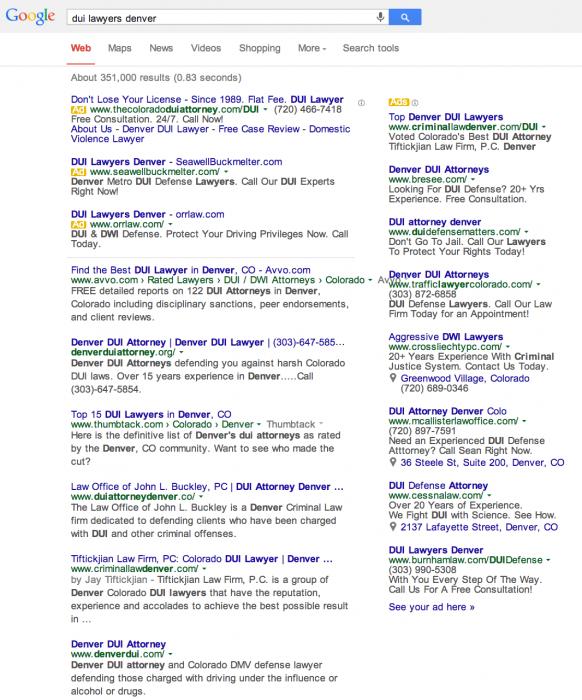impact of Google pigeon update