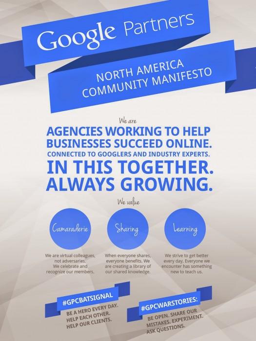 Google Partners Community Manifesto