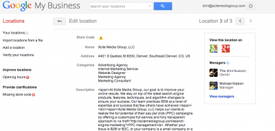 Google My Business Locations Management