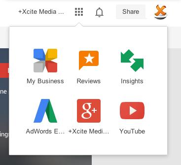 Google My Business App Switcher